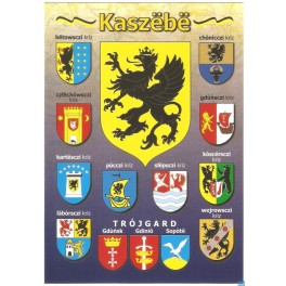 Kaszuby Herby powiatów Pocztówka
